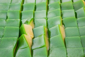 "Ancient Thai sweet dessert ,as known""Khanom Chan ""."