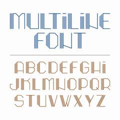 Multiline font, alphabet