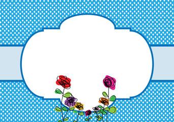 Polka Dot Invitation Template With Frame