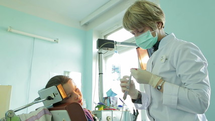 Dentist Correcting Braces For Crooked Teeth With Special Dental