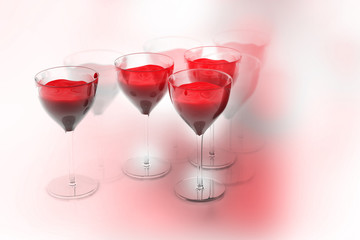 Red wine glass.