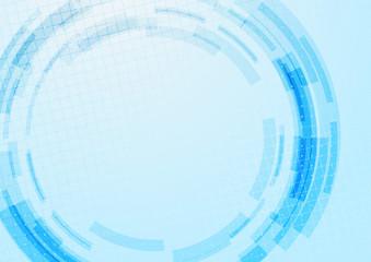 Blue technology gear modeling background