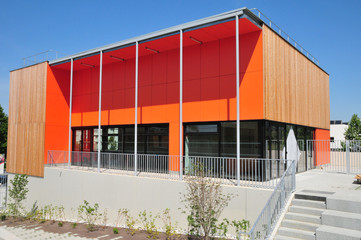 modern building site in Ile de France