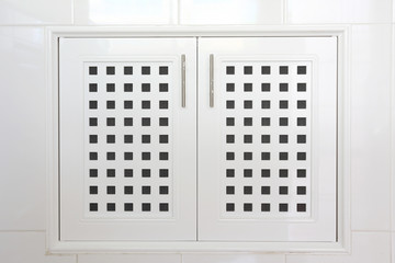 cabinets in white kitchen room