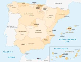 Spanien administrative Karte