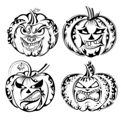 Collection of Halloween pumpkin