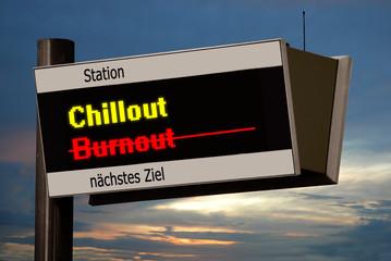 Anzeigetafel 4 - Chillout
