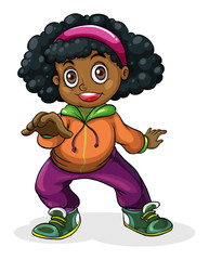 A black hiphop dancer