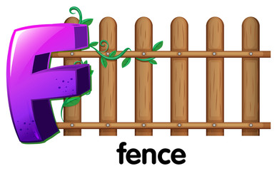 A letter F for fence