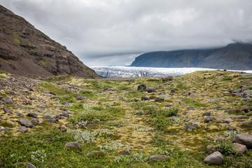 Paysage Glacier en Islande islandais