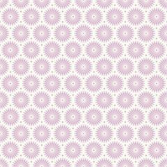 Retro Seamless Pattern Flowers Purple/Beige