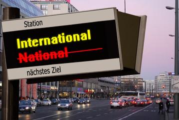 Anzeigetafel 5 - International