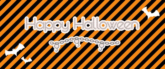 happy halloween created from chain