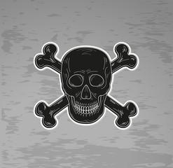 black skull and bones