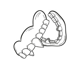 sketch of the vampire denture