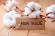 Leinwanddruck Bild - Fair Trade - Fairer Handel - Baumwolle