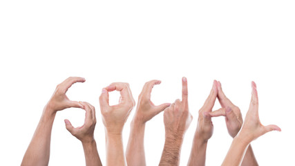 hands form the word social