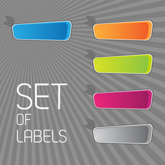 Colored label set.