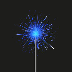 vector modern fireworks on black background