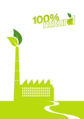 Ecology factory. Vector art