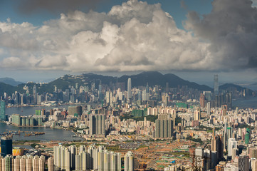 hongkong cityscape with landmark building