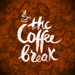 Hand drawn vintage coffee background. Sketch vector illustration