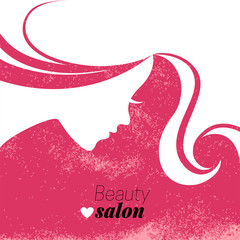 Beautiful woman silhouette. Vector illustration
