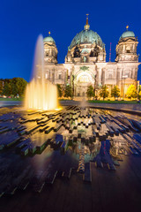 The Berliner Dom in the heart of Berlin at night