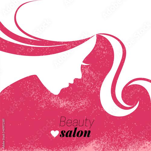 Beautiful woman silhouette. Vector illustration - 69972381