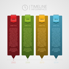 Vector timeline template. Infographics