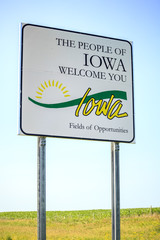 The people of Iowa welcome you Sign