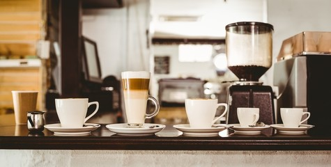 Selection of coffee on the counter