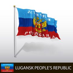 Flag of Lugansk People's Republic - Lugansky Russia - Vector I