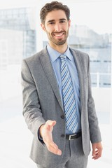 Businessman offering to shake hands