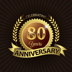 Celebrating 80 Years Anniversary - Laurel Wreath Seal & Ribbon