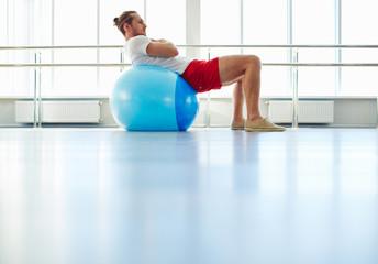 Exercising on ball