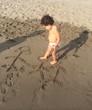disegni in spiaggia