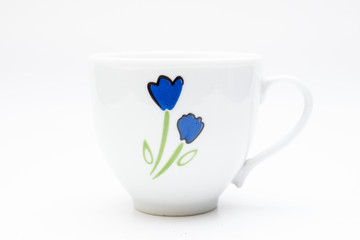 A coffee mug in white background.
