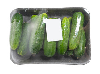 Pack of cucumbers