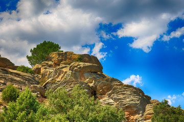beautiful scenery of the Rocky Mountains in Spain