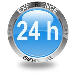 bouton expérience service rapide 24 h