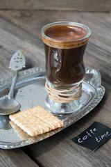 Small black coffee. coffee time