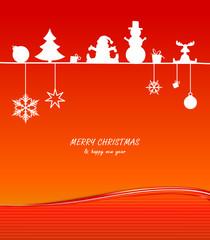 Karte Weihnachten Silvester