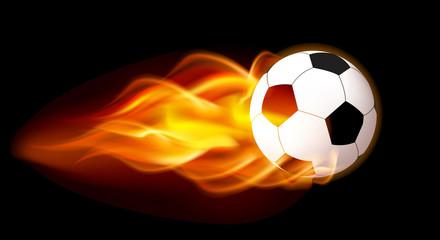 Flaming Football Ball