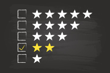 Two Star Checklist Rating On Blackboard