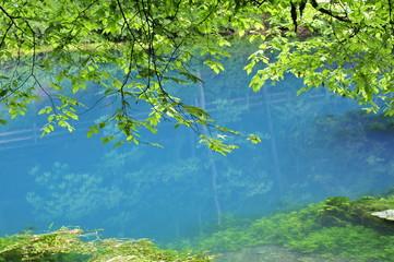 tief blauer See - Blautopf