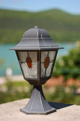 Ancient outdoor lamp in Abrau Durso