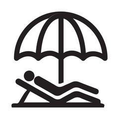 Векторный значок с изображением зонтика