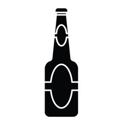silhouette of beer bottle  vector