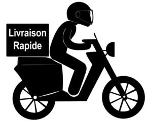 livraison rapide à scooter